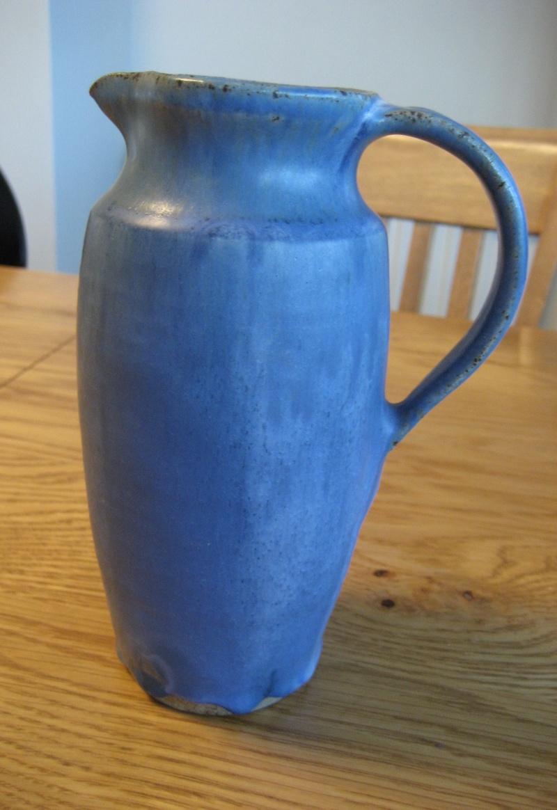 Blue drip glaze jug - S stamp Img_1826