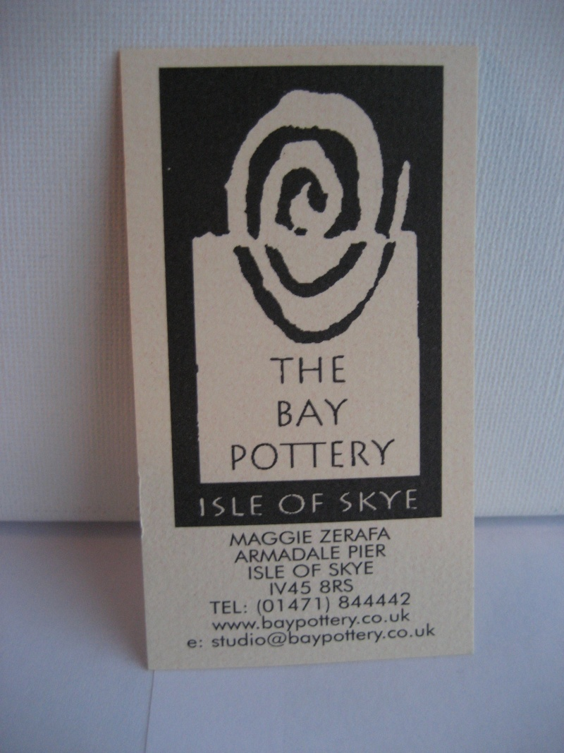 SKYE stamp for Maggie Zerafa - The Bay Pottery , Isle Of Skye. Img_2124