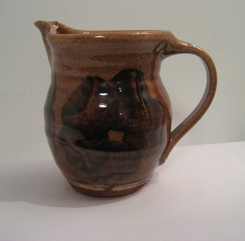 Small 9cm Tall Earthenware Milk Jug Stamped JL and EP Img_2125