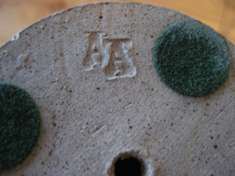 Stoneware Goblet Swirl Resist Design Mark AA? Img_2317