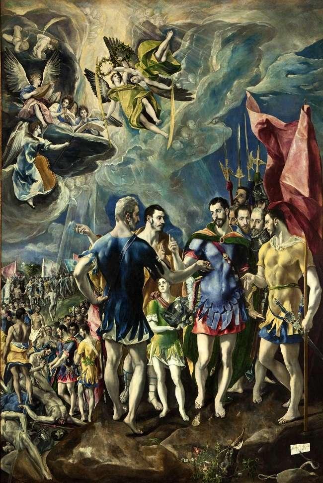 El Martirio de San Mauricio- El Greco Martir10