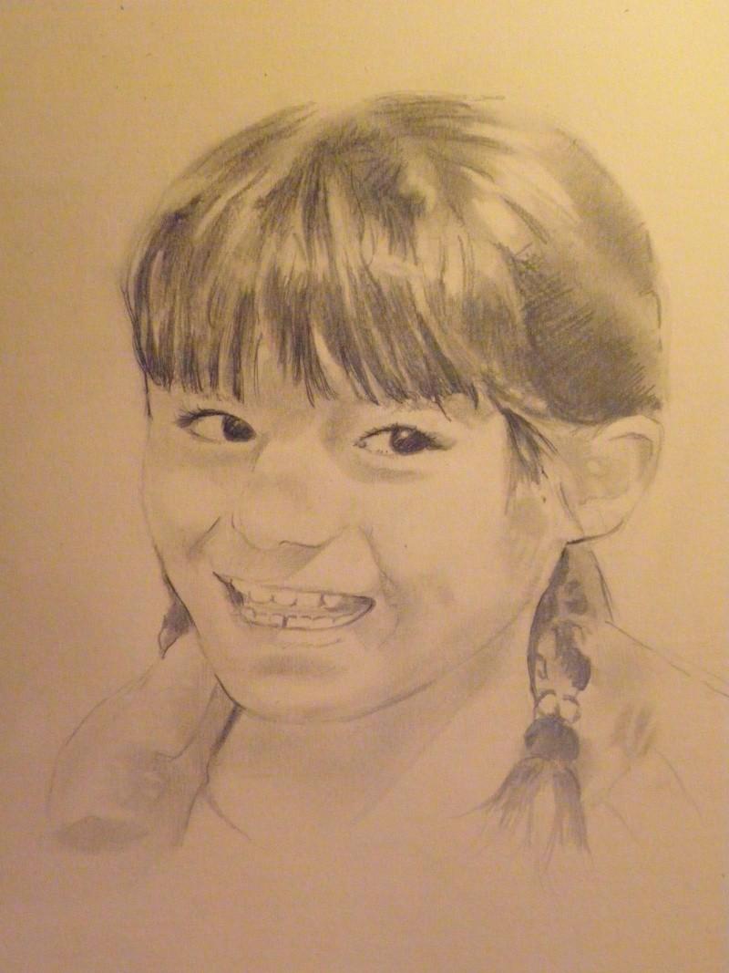 portraits d'animaux et des personnes Enfant10