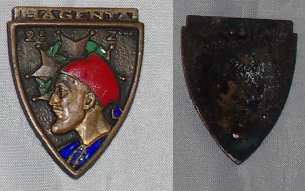 Insigne Infanterie métro, colonial, AFN, Génie trans  2rz_ve10
