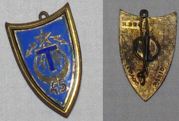 Insigne Infanterie métro, colonial, AFN, Génie trans  45rt_v10