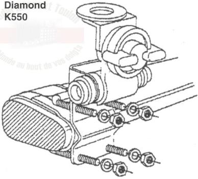 Diamond K-550 (Embase d'antenne pour barre de toit) K-550_10
