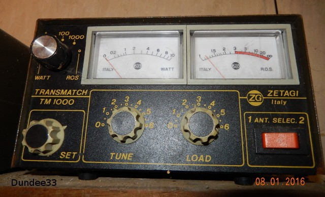 Zetagi Transmatch TM 1000 (Tosmètre/Wattmètre/Matcher (Vintage) Zetagi14