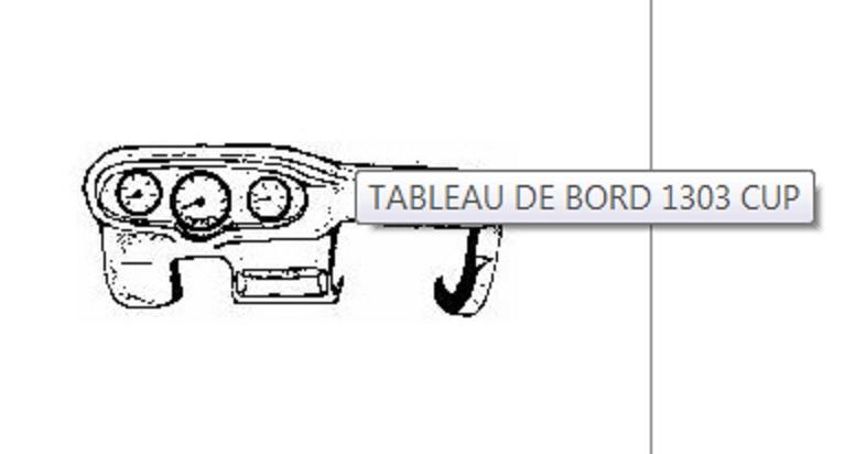 Couvre Tableau de Bord pour 1303 Tablea11