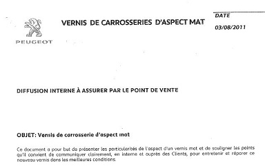 Vernis mat note PSA 310