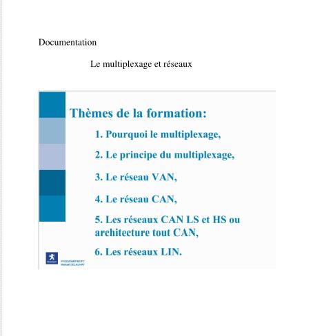 Le multiplexage et réseau  (PSA) 610