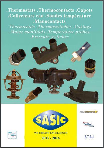 Catalogue Thermostats . Thermocontacts . Capots . Collecteurs d'eau . Sonde Températures .  Manocontacts Sasic15