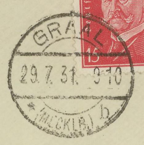 Ortsstempel aus Mecklenburg-Vorpommern Graal_10