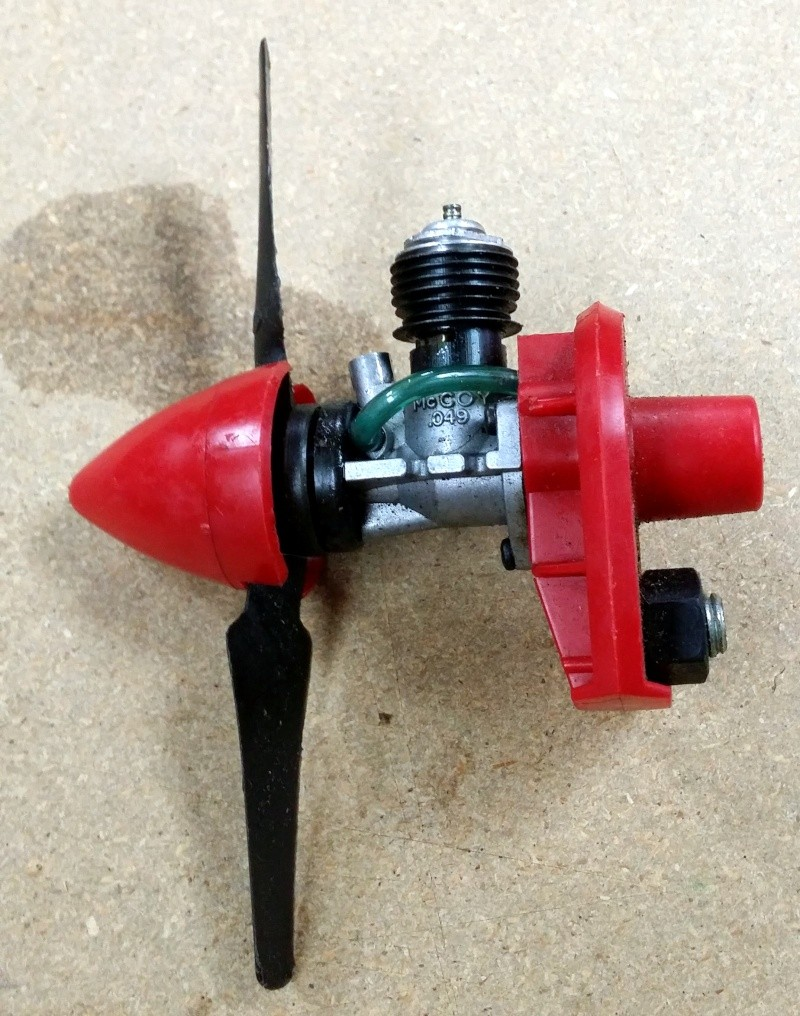 Testors McCoy Product .049 w/ firewall, spinner and prop Tm210