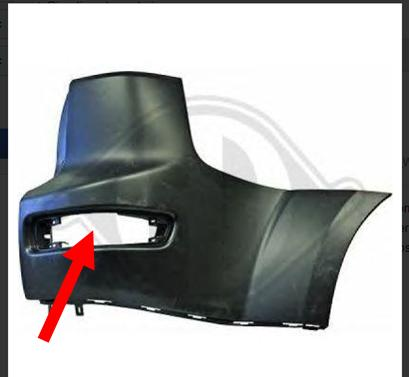 Fanalino caterifrangente posteriore DX Fanale10