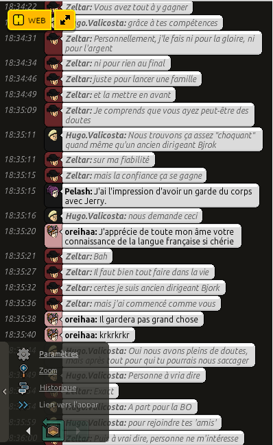 Conversation avec Zeltar 310
