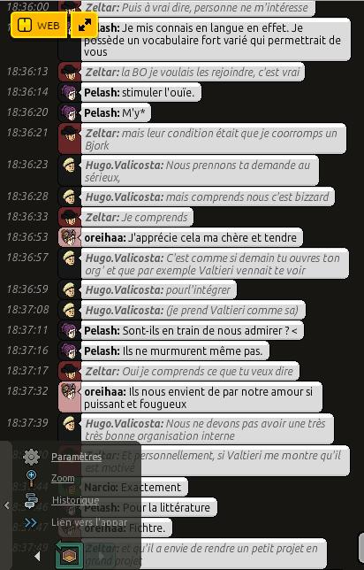Conversation avec Zeltar 410