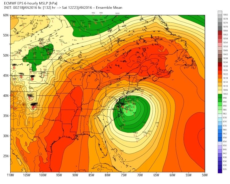 01/22/16-01/23/16 Update #1 - Historic Storm Possible - Page 6 Eps_sl11