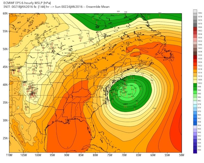 01/22/16-01/23/16 Update #1 - Historic Storm Possible - Page 6 Eps_sl13