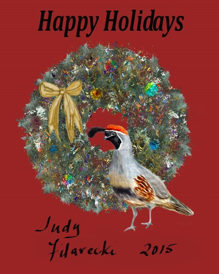 Happy Holidays Wreath10