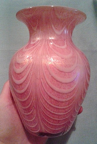 swag art glass vase Waterm19