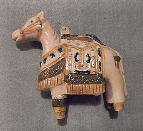 rooster riding a horse figurine Waterm30