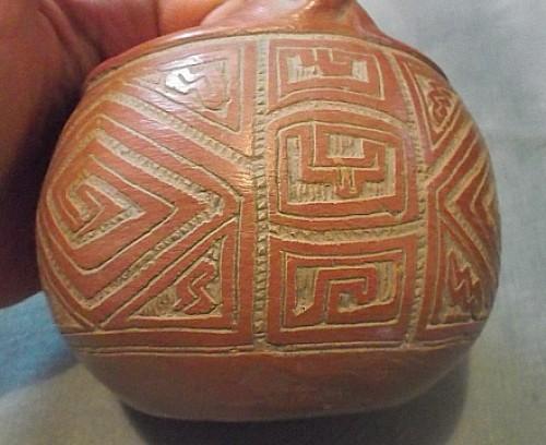 clay monkey pot Waterm36
