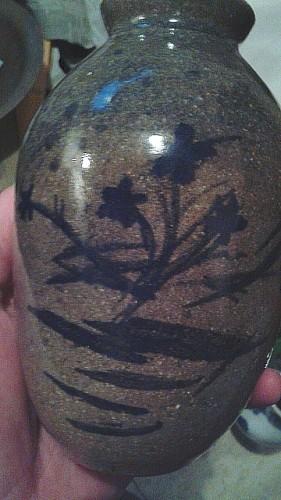 cobalt stoneware vase Waterm69