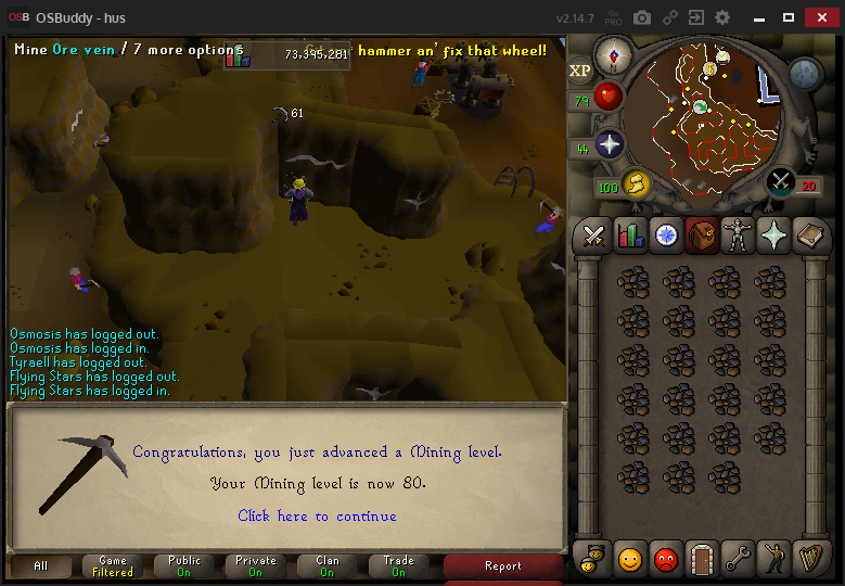 Hus' progress thread Mining13