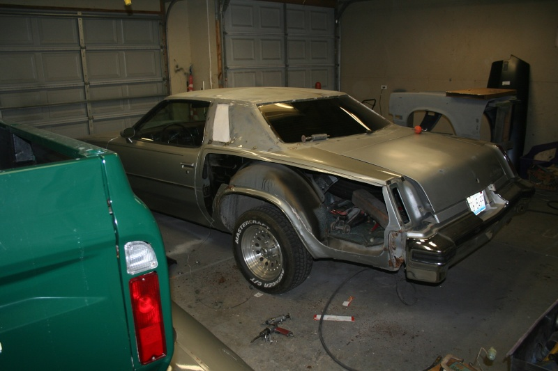 '76 Cutlass High School tribute restoration. Update: frame swap. 00110