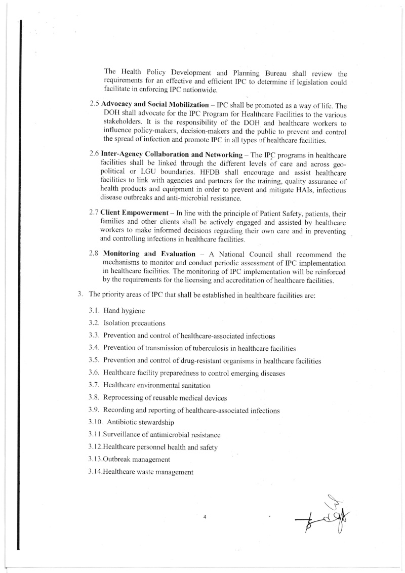 DCMC 2016-001: National Policy on Infection Prevention and Control in Healthcare Facilities Dmc_0013