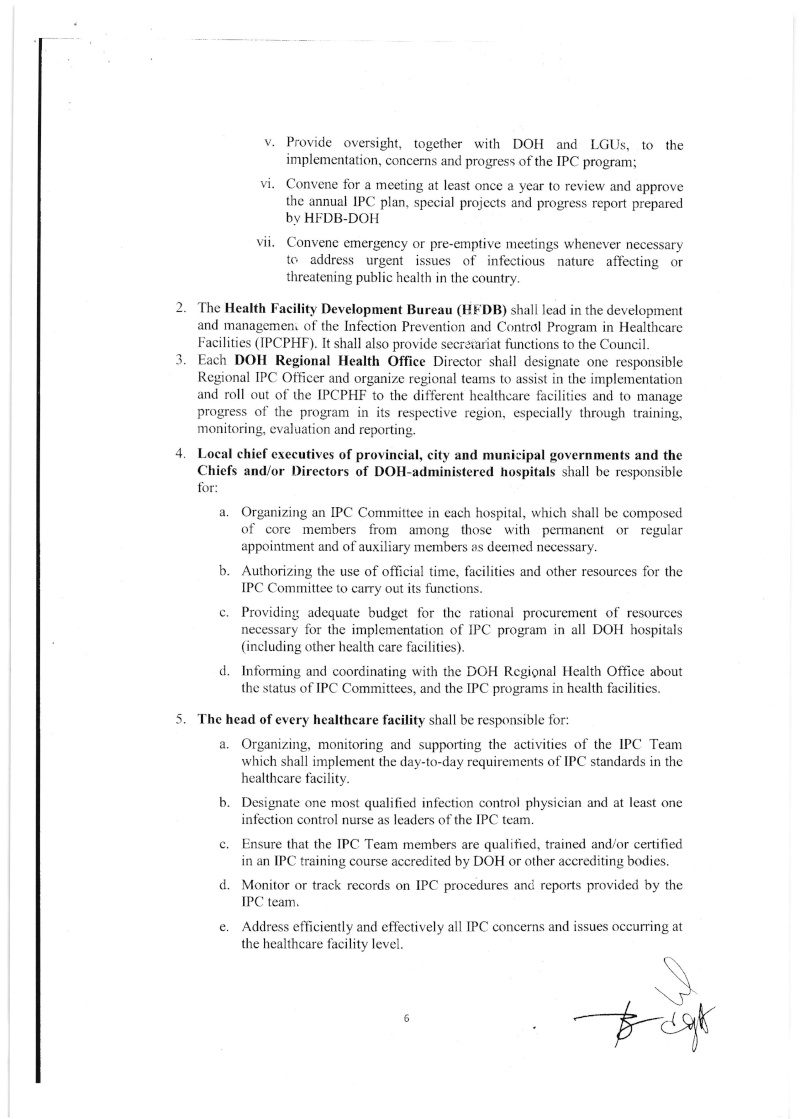 DCMC 2016-001: National Policy on Infection Prevention and Control in Healthcare Facilities Dmc_0014