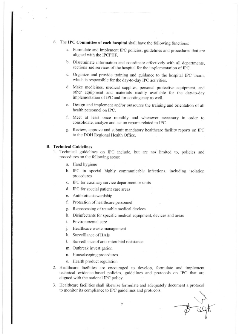 DCMC 2016-001: National Policy on Infection Prevention and Control in Healthcare Facilities Dmc_0016