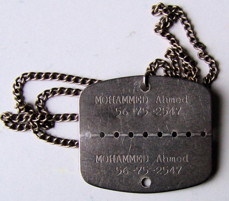 Rare plaque d'identité Algérie - ESC 2 Vendue Dsc09121
