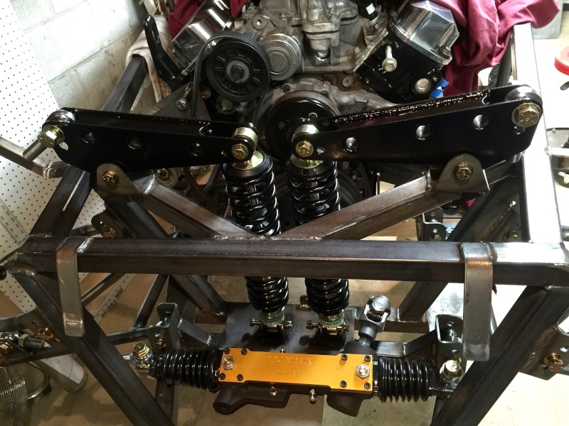 Classic R #27 Build - Front and Rear Suspension Dry Fit Rocker15