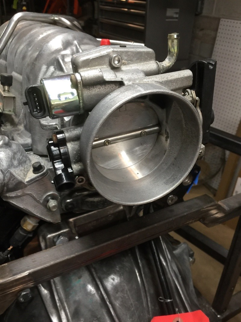 Classic R #27 Build - Throttle Body and Engine Dry Fit Thrott15