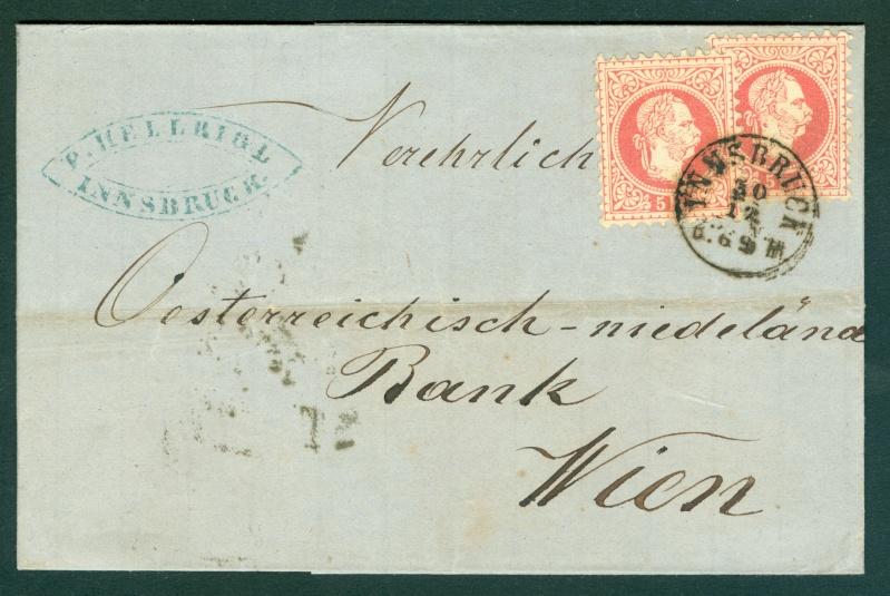 Freimarken-Ausgabe 1867 : Kopfbildnis Kaiser Franz Joseph I - Seite 11 1869_i10