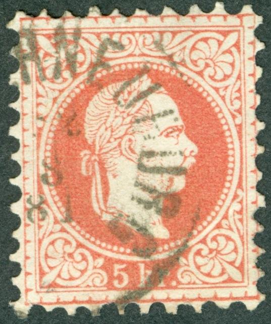 Freimarken-Ausgabe 1867 : Kopfbildnis Kaiser Franz Joseph I - Seite 11 5_kr_10