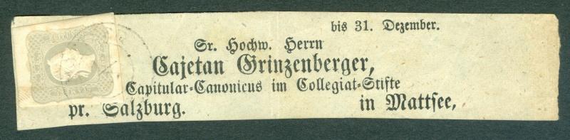DIE ZEITUNGSMARKEN AUSGABE DES JAHRES 1861 Schlei10