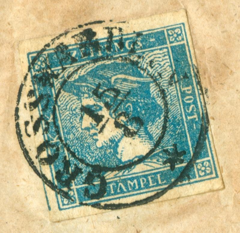 DIE ZEITUNGSMARKEN AUSGABE 1851 Zeitun14