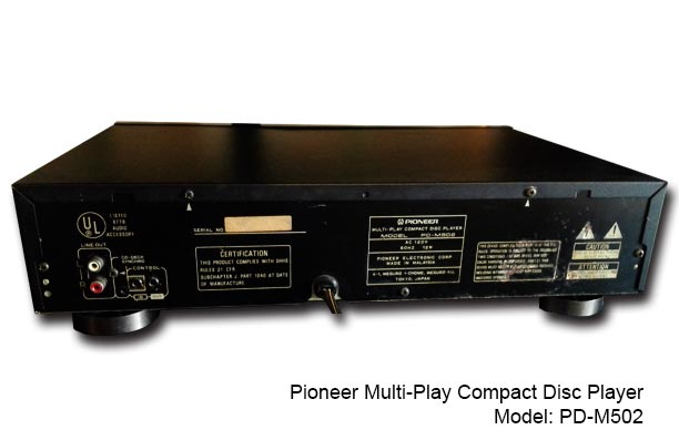Pioneer Multi-Play Compact Disc Player [PD-M502] - Used Set