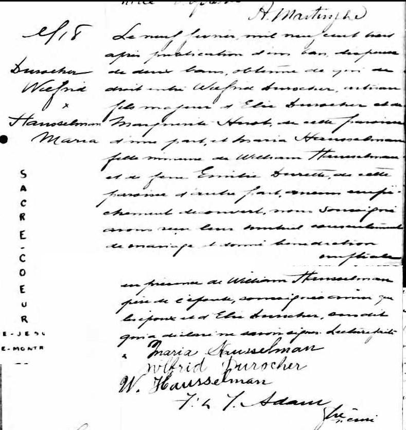 Maria Hausselman et Wilfrid Durocher Duroch10