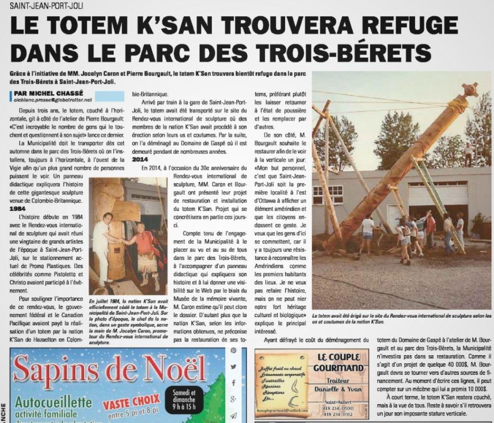 Le totem K'SAN trouvera refuge dans le parc des trois bérets Totem_10