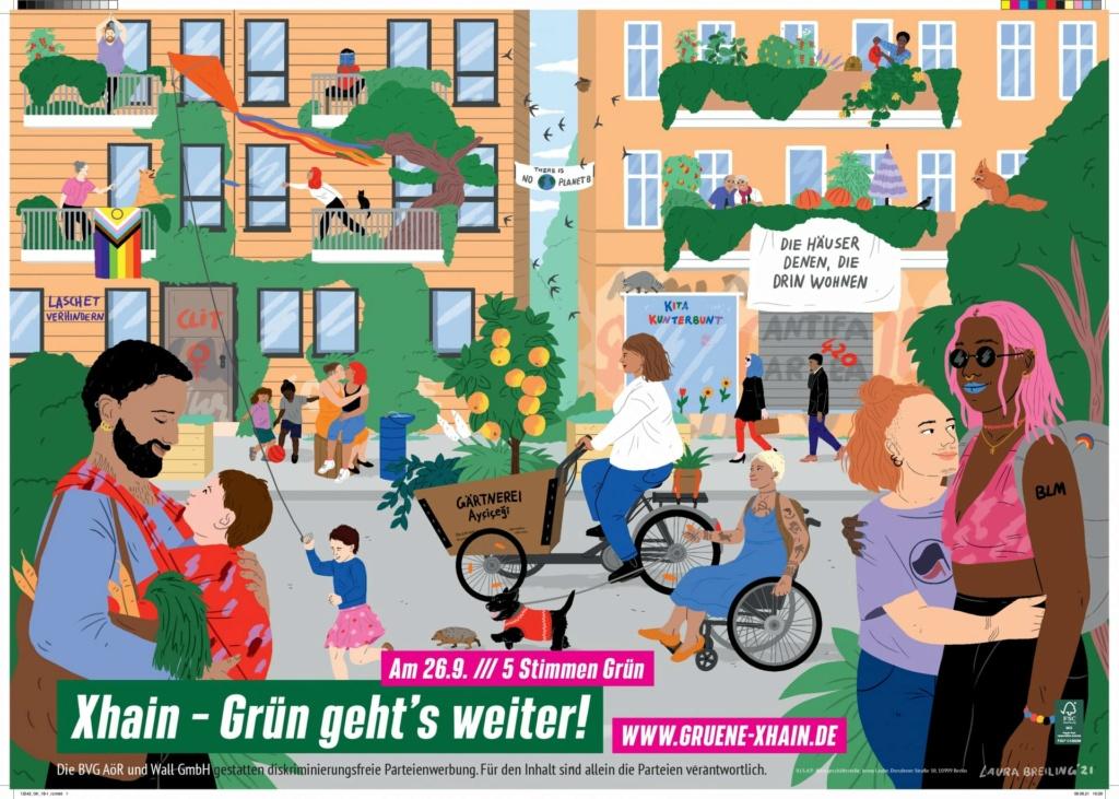 Plakat stranke koja će vjerojatno pobijediti na izborima u Njemačkoj Degene10