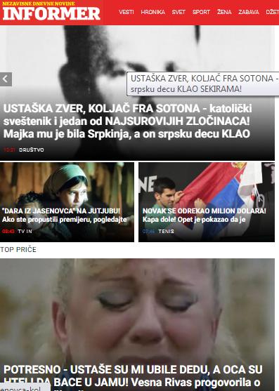 """Srbi snimaju nastavak """"Dare iz Jasenovca"""" smješten u Oluju - Page 4 Inform10"""