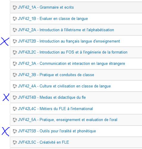 Organisation du second semestre Parcou10
