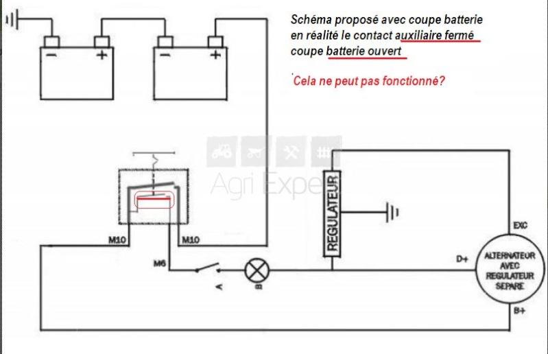Raccordement coupe batterie au négatif plus installation Schyma10