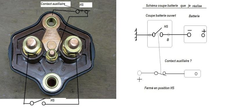 Raccordement coupe batterie au négatif plus installation Schyma13