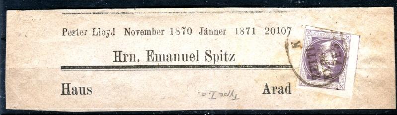 DIE ZEITUNGSMARKEN AUSGABE 1867 Zeitun10