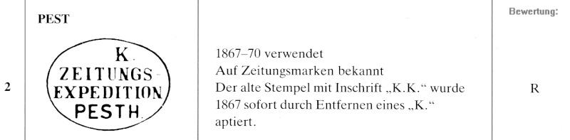 DIE ZEITUNGSMARKEN AUSGABE 1867 Zeitun12