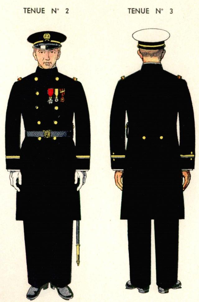 Uniforme Premier Maître 1938 - Source planches Marine Nationale 1938 1ermai11