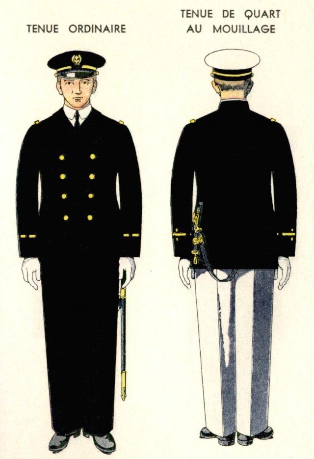 Uniforme Aspirant de réserve 1938 - Source planches Marine Nationale 1938 Aspira11